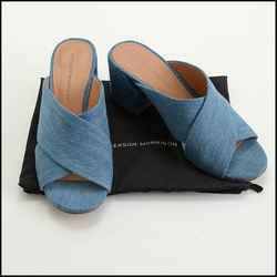 Rdc10433 Authentic Size 8.5 Sigerson Morrison Denim Rhoda Slide Sandals
