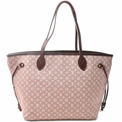 Auth Louis Vuitton Louis Vuitton Ideal Neverfull Mm Sepia Handbag Red Canvas