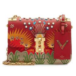 Valentino Wonderland Rock Shoulder Bag Orange One Size Authenticity Guaranteed