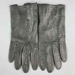 Vintage CHRISTIAN DIOR Black 6.5 Leather Gloves
