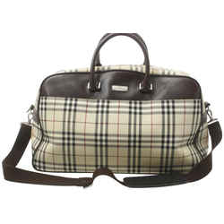 Burberry  Nova Check Boston Duffle with Strap 860789