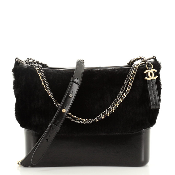 Gabrielle Hobo Shearling And Leather Medium