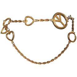 Moschino Gold Charm Chain Belt
