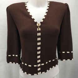 St John Brown Knit Jacket 2