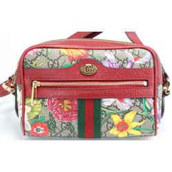 Gucci GG Supreme Monogram Flora Web Mini Ophidia Shoulder Bag
