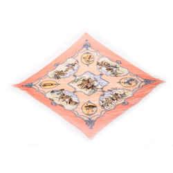 Hermes Les Cheavaux Des Moghols Printed Silk Scarf