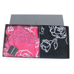 Saint Laurent Ysl Rose Towel Set Pink Black 8yk0115
