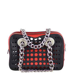Prada Calfskin City Fori Chain Shoulder Bag