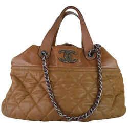 Chanel Hobo Brown Leather Bag