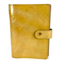 Louis Vuitton Small Ring Agenda PM Monogram Vernis Yellow-Beige Cover 2lv64