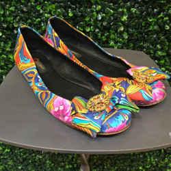 Dolce & Gabbana Size 40/10 Multi-Color Print Flats