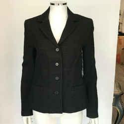 $435 Nwt New Theory Black Box Tweed Angora Wool Barrie Blazer Jacket Sz 10
