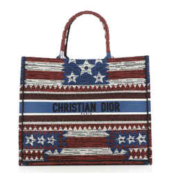 Book Tote American Flag Embroidered Canvas