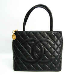 Chanel Caviar Skin Mdallion Tote A01804 Women's Caviar Leather Handbag  BF516940