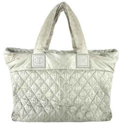 Chanel Large Quilted Grey Cocoon Tote 4c1117