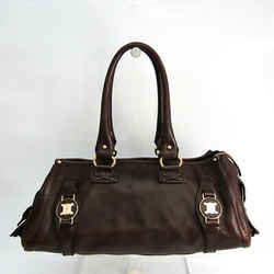 Celine Women's Leather Handbag Dark Brown BF520563