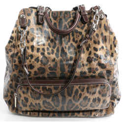 Dolce&Gabbana Patent Leopard Miss Pocket Bag