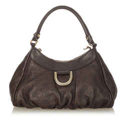 Brown Gucci Guccissima Abbey D-Ring Shoulder Bag