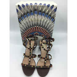 Valentino Garavani Size 39/8 Dark Brown Sandals