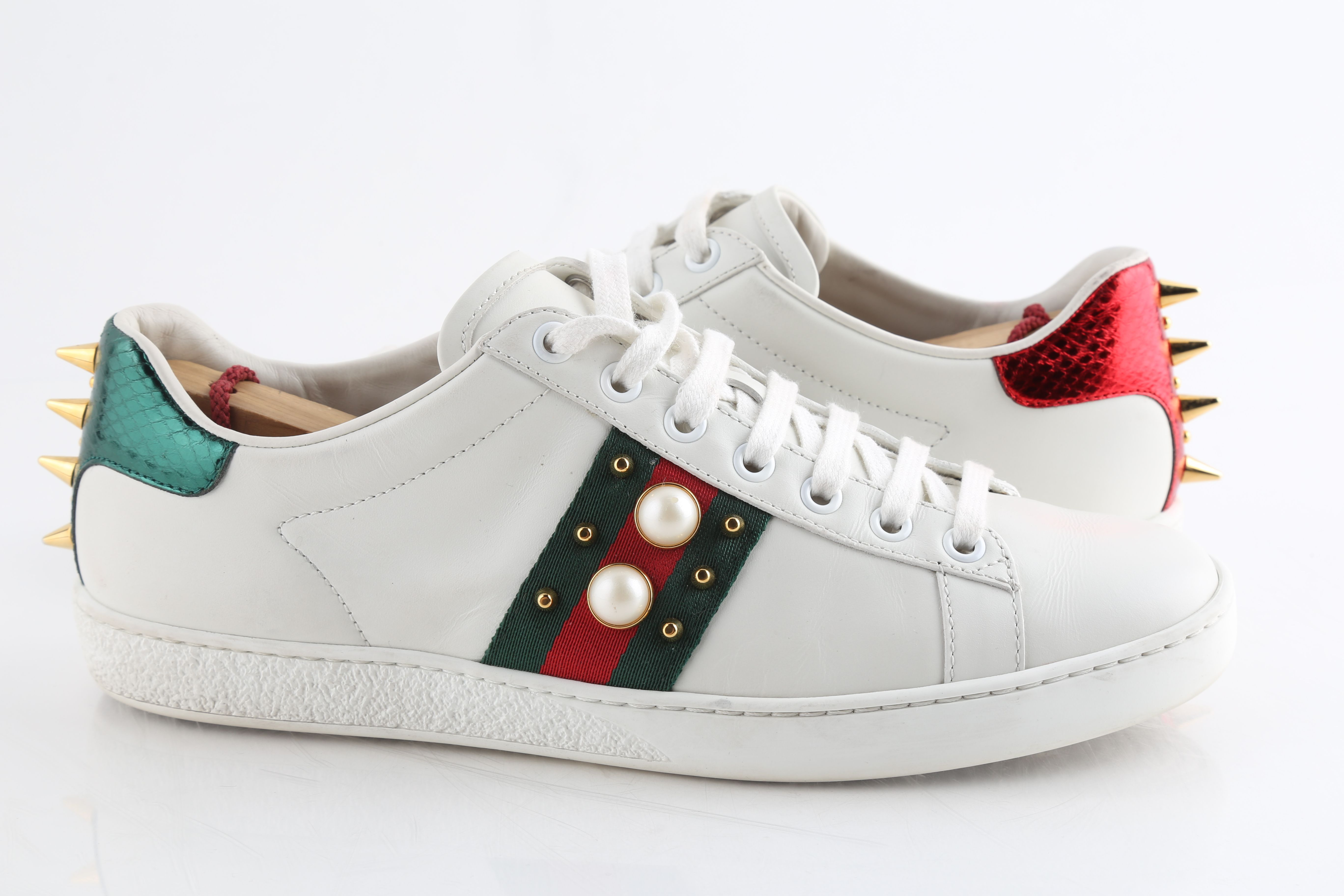 Gucci Ace Studded Leather Sneakers | LePrix