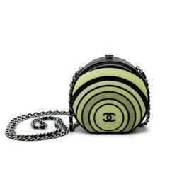Chanel Minaudiere Pillbox Black / Cream Resin Cross Body Bag