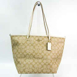 Coach Signature Luxury F34104 Women's Coated Canvas,Leather Tote Bag Be BF520740