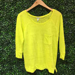 Joie Size XS Highlighter Yellow Top
