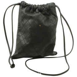 Chanel Black Quilted Lambskin Drawstring Bucket Sack Bag 861827