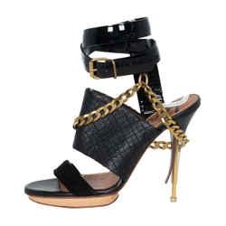 Lanvin Leather Chain Sandals