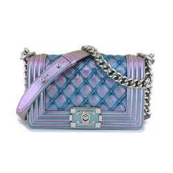 Chanel Iridescent Purple Mermaid Small Water Boy Flap Bag