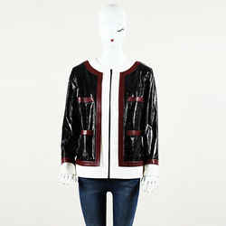 Chanel Paris Rome Lambskin Leather Jacket