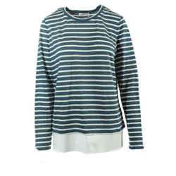 Nwt Tory Burch Linen Jersey Small Pullover, Multicolor