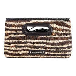 Michael Kors Rosalie Clutch Bag Natural/Gold Size 7 Authenticity Guaranteed