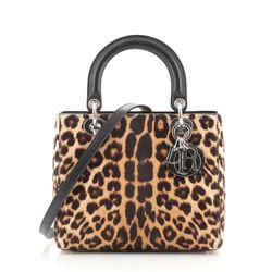 Lady Dior Bag Printed Calf Hair Medium