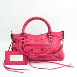 Balenciaga The First 103208 Women's Leather Handbag,Shoulder Bag Pink BF520754
