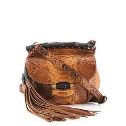 Nouveau Fringe Crossbody Bag Python Small