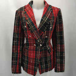 Rachel Zoe Red Plaid Blazer Medium