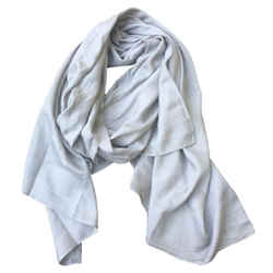 "Louis Vuitton Grey Silk Scarf/Wrap 72""L x 27""W x 0.01""H"