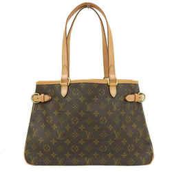 Auth Louis Vuitton Monogram Batignolles Oriental Shoulder Tote Bag M51154 Leathe