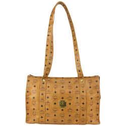 MCM Cognac Monogram Visetos Shopping Tote Bag 819mcm80