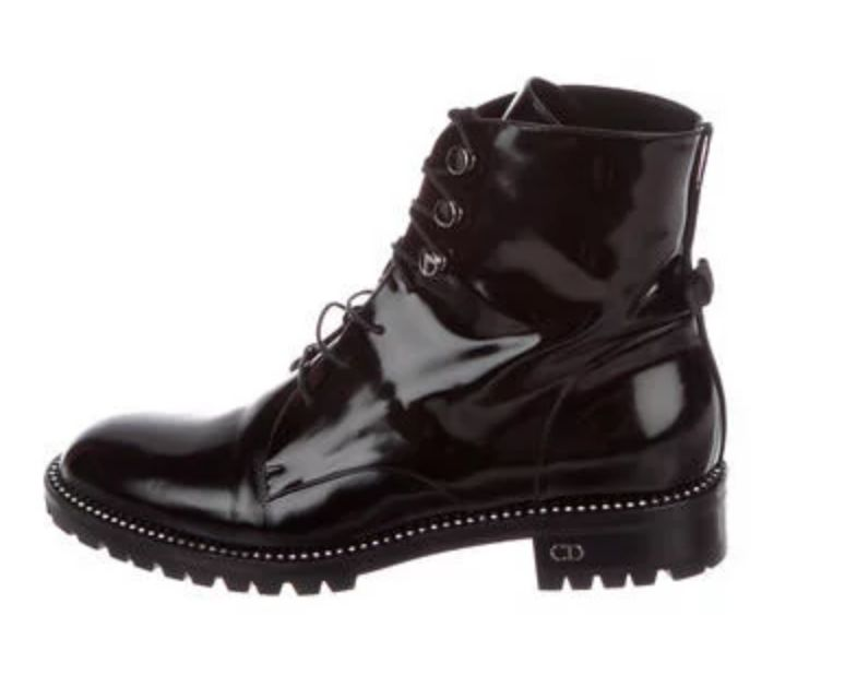 Patent Leather Rebelle Ankle Combat