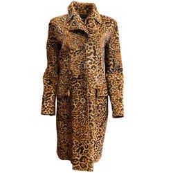 Giorgio Armani Leopard Print Hair On Coat