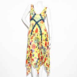 Jpg Yellow Floral Print Dress