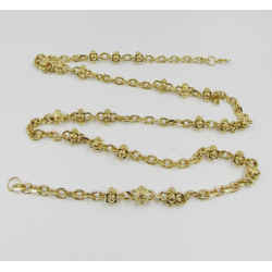 St. John Knits Chain Link Belt Necklace 24k Gold Plated Adjustable One Size