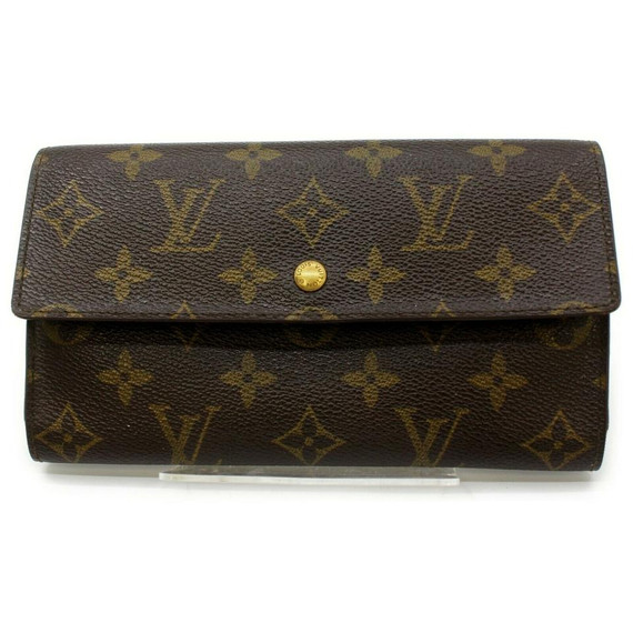 Louis Vuitton Monogram Trifold Long Sarah Wallet Porte Tresor International 861437