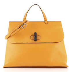 Bamboo Daily Top Handle Bag Leather Large