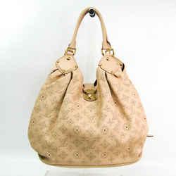 Louis Vuitton Mahina L M93819 Women's Shoulder Bag Beige BF509950