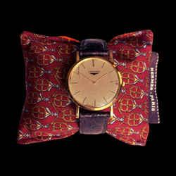 HERMES Vintage Red Equestrian Cravatte Cedar Watch Pillow