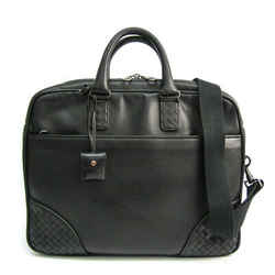 Bottega Veneta 246616 Men's Leather Briefcase Black Bf513520