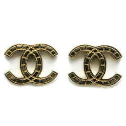 CHANEL Coco Mark Metal Stud Earrings BF519459